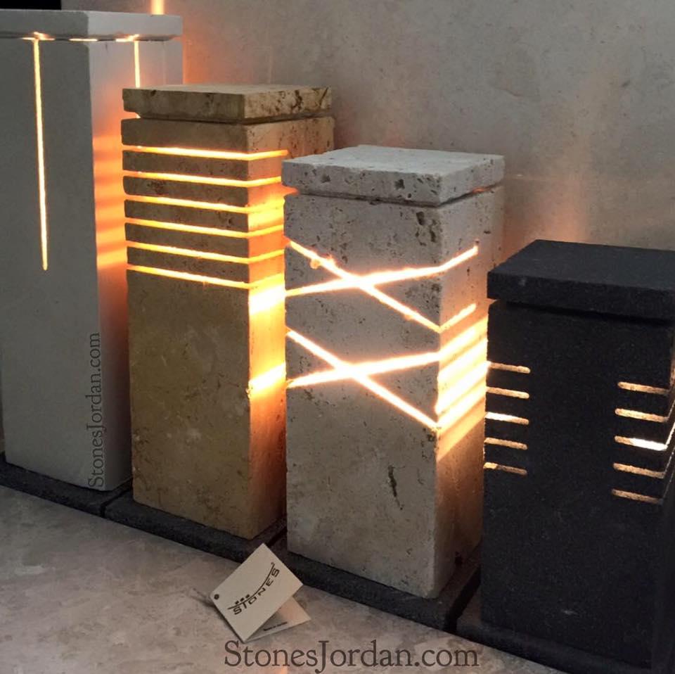 Handmade Lighting Fixtures Stones Jordan
